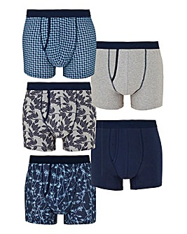 Capsule Navy Print Pack of 5 A Fronts