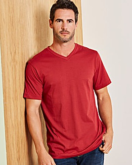 Capsule Burgundy V-Neck T-shirt R