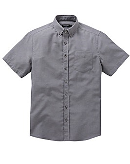 Capsule Charcoal S/S Oxford Shirt L