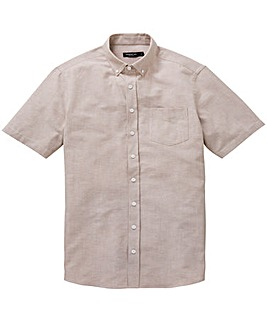 Capsule Oatmeal S/S Oxford Shirt L