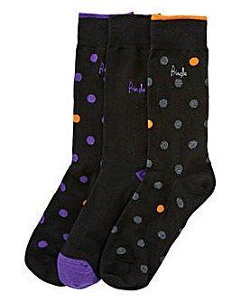 Pringle Pack of 3 Printed Socks