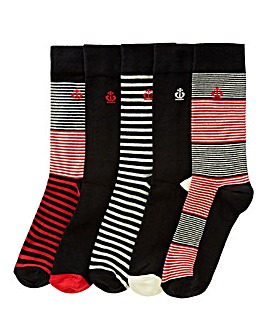 Jeff Banks Pack of 5 Socks