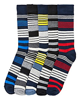 Jack & Jones Pack 5 Stripe Socks