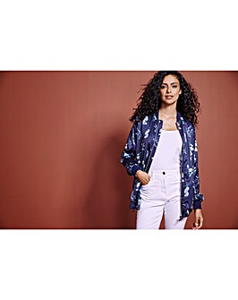 Printed Unpadded Bomber Jacket