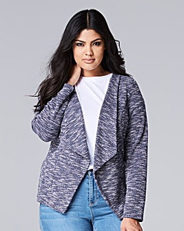 Short Waterfall Front Jersey Jacket