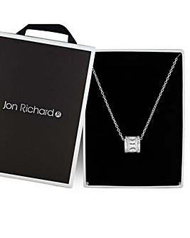 Jon Richard silver barrel necklace