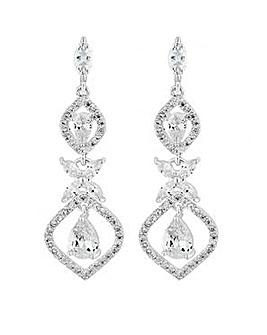 Alan Hannah silver floral drop earring