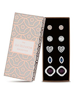 Jon Richard multi tone stud earring set