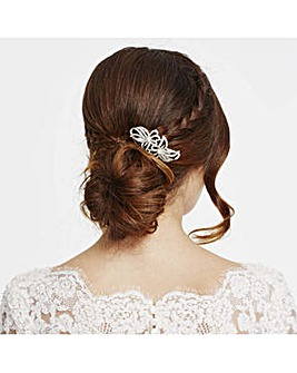 Jon Richard double flower hair comb