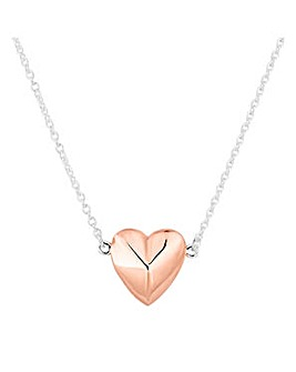 Simply Silver silver heart necklace