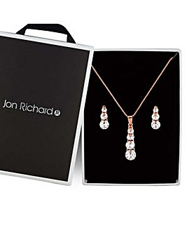 Jon Richard crystal drop jewellery set