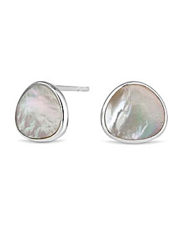 Simply Silver mother of pearl earring