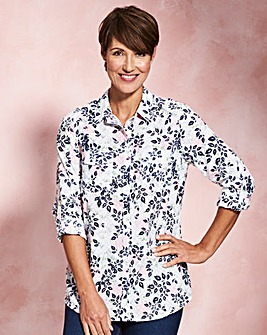 Floral Print Cotton Dobby Shirt