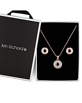 Jon Richard crystal circle jewellery set