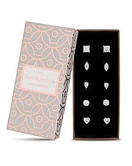 Jon Richard multi cut stud earring set