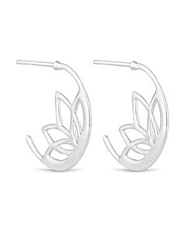 Simply Silver cut out flower earring
