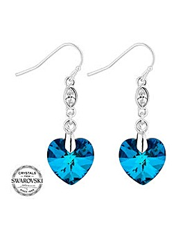 Jon Richard bermuda blue heart earring