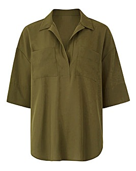 Dipped Utility Shirt