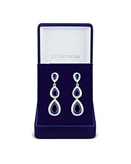 Jon Richard multi peardrop earring
