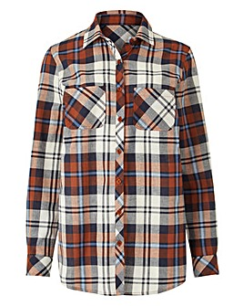 Multi CheckLong Sleeve Shirt With Pocket
