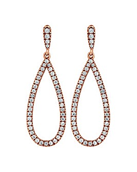 Simply Silver pave earring