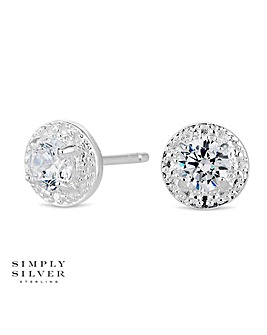Simply Silver mini clara earring