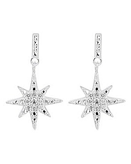 Simply Silver star burst earring