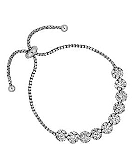Jon Richard floral toggle bracelet