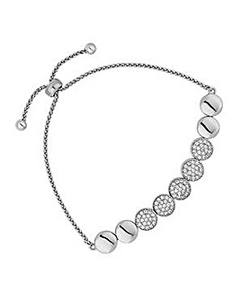 Jon Richard pave circle toggle bracelet