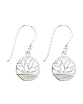 Simply Silver lotus flower earring
