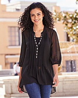 Black Embellished Detail Tunic