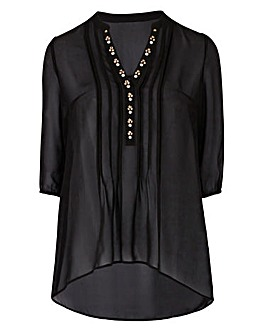 Black Embellished Detail Tunic