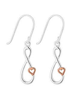 Simply Silver infinity heart earring