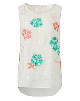 Embellished Sleeveless Shell Top