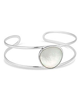 Simply Silver mother of pearl bangle
