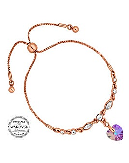 Jon Richard pink heart toggle bracelet