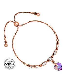 Jon Richard pink heart toggle bracelet