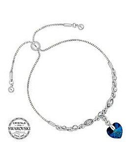 Jon Richard bermuda blue heart bracelet