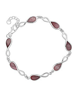 Simply Silver infinity twist bracelet