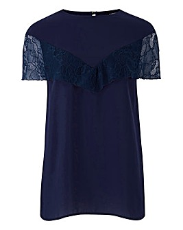 Midnight Cape Lace Top