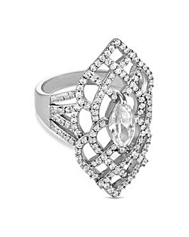 Jon Richard crystal cut out ring
