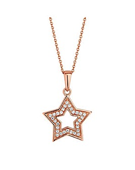 Simply Silver star necklace