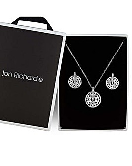 Jon Richard silver cut out jewellery set