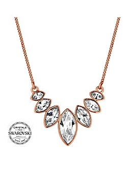 Jon Richard graduated crystal necklace