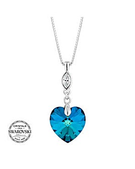 Jon Richard bermuda blue heart necklace