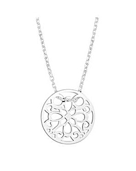 Simply Silver cut out disc necklace