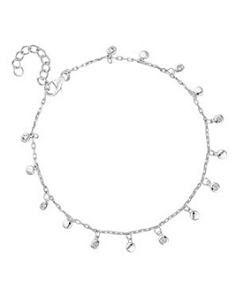 Simply Silver charm cluster bracelet