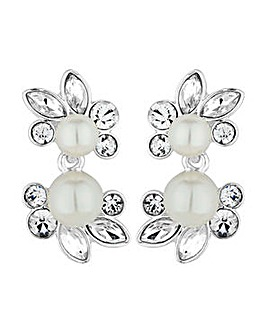Alan Hannah botanical pearl earring