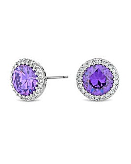 Jon Richard pave circle stud earring
