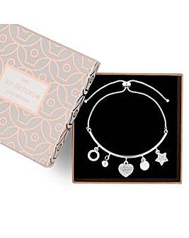 Jon Richard crystal charm bracelet